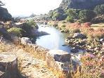 River Hozgarganta below villa