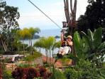 This rental property in Costa Rica has its own zip line.  Zip lining in Costa Rica is awesome!