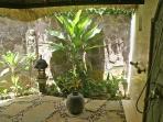Pavilion Bali - a gorgeous open air garden bathroom