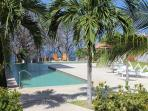 Pool and cabana area with Barbecue for your use