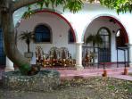 Garden pathway to casita/boasts 2 suites and terrace