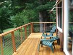 Views from rear deck to 1 acre yard below