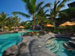 Newly constructed Ho'olei includes a stunning pool area that is always peaceful and relaxing