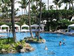 The Grand Wailea's famous pools, service and cabanas are available to our guests