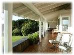 Covered Lanai across full length of house facing ocean