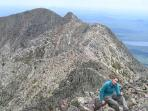 Hiking the Knife's Edge trail on Katahdin