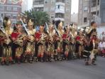 The Moors and Christians Parades in nearby Guardamar