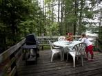 Deck with Patio furniture and BBQ