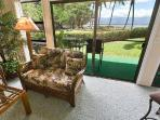 Ocean view from the living room, kitchen and guest bedroom