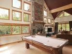 Pool Table in Open Living Area