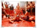 La tomatina in our local town the last Wednesday of August