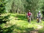 Mountain biking at the Pass Creek Yurt