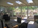 portal off dining room skylights and garden