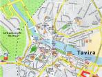 Location Map of Villa in Tavira