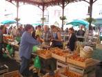 Saturday market in Figeac