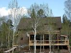 When the aspen trees leaf out in summer the lodge becomes a nice private retreat