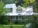 Summer View of Cottage Exterior