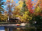 Colored leaves, Maki Cabin