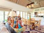 Open Plan Living Area With Indonesian collectibles