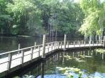 End of Withlacoochee River boardwalk