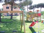 House & garden with children's play area