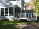 Quiet back porch