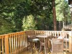 Deck off the main level with BBQ & beautiful patio furniture