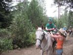Horseback riding around Shaver Lake