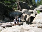 Climbing the falls at Shaver Lake