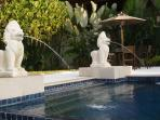 Swimming pools hand crafted stone water features
