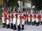 Historic Reenactments in Town go right past the front of the house.