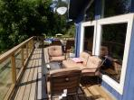 Outdoor living room-large house deck.