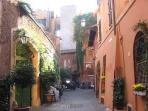 Sreet way of Trastevere - 10 minutes by Tram # 8