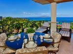 Panoramic Sweeping Ocean View Top Floor Covered Veranda with Outdoor Dining and Lounging