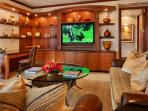 The Stunningly Beautiful Great Room. Live Plants, Custom Cabinetry, Down-Filled Furniture, Original Art, Artifacts and...