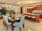 H501 Wailea Paradise Indoor Dining and Kitchen with Everything You May Need to Entertain and Dine Wailea Style