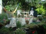 Private sheltered cottage garden (suntrap in the summer with bbq facilities.