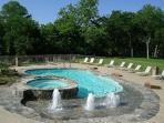 Heated Beach-style  pool with hot tub