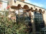 Front entrance to villa