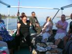 Christmas Day lunch for all our guests and friends on our felucca Nile Bride