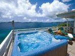 Upper Deck Hot Tub & Down Island View