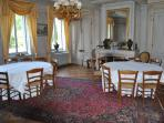 Breakfast room in the chateau