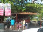 Traditional Food Kiosk at steps