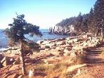 Pathway to Otter Cliffs in National Park near Acadia View