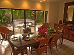 Lovely dining area opens to patio and spa