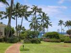 It is just a short walk through the grounds to Poipu Beach or to Shipwreck beach