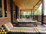 Huge balcony with the beach chairs allow you to relax during your vacation in Koh Samui