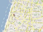 Our location - One block from Bograshov Beach