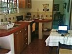 The Bird of Paradise kitchen.