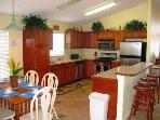 Fully eqipped kitchen with all new appliances, gas range